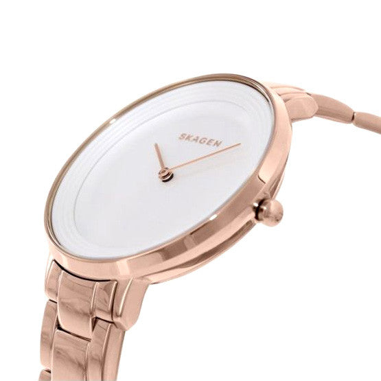 Ditte Silver Dial Rose Gold-tone Stainless Steel Ladies Watch