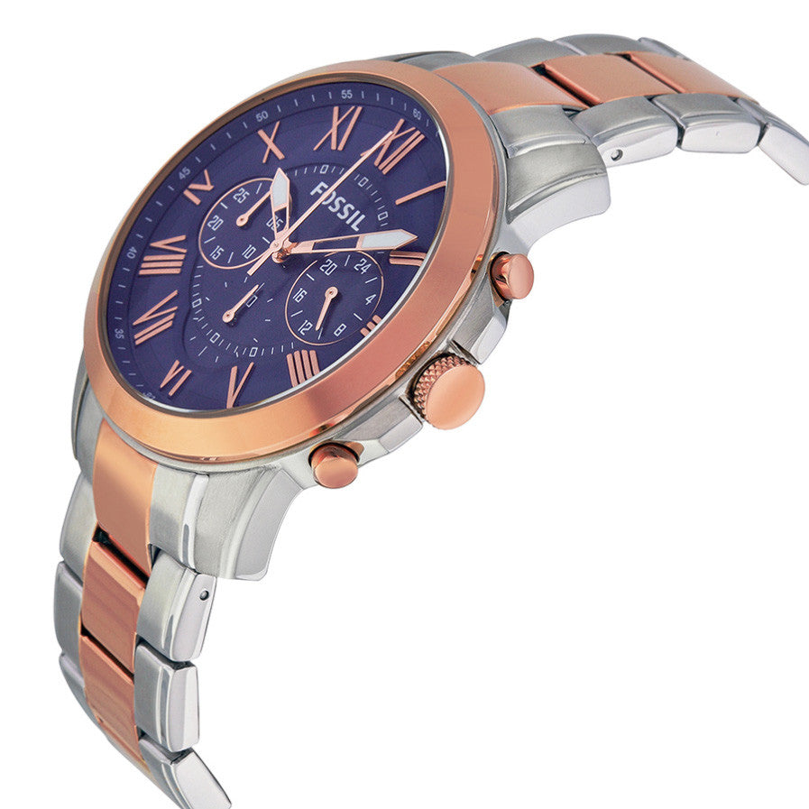 Grant Chronograph Blue Dial Two-tone Men's Watch