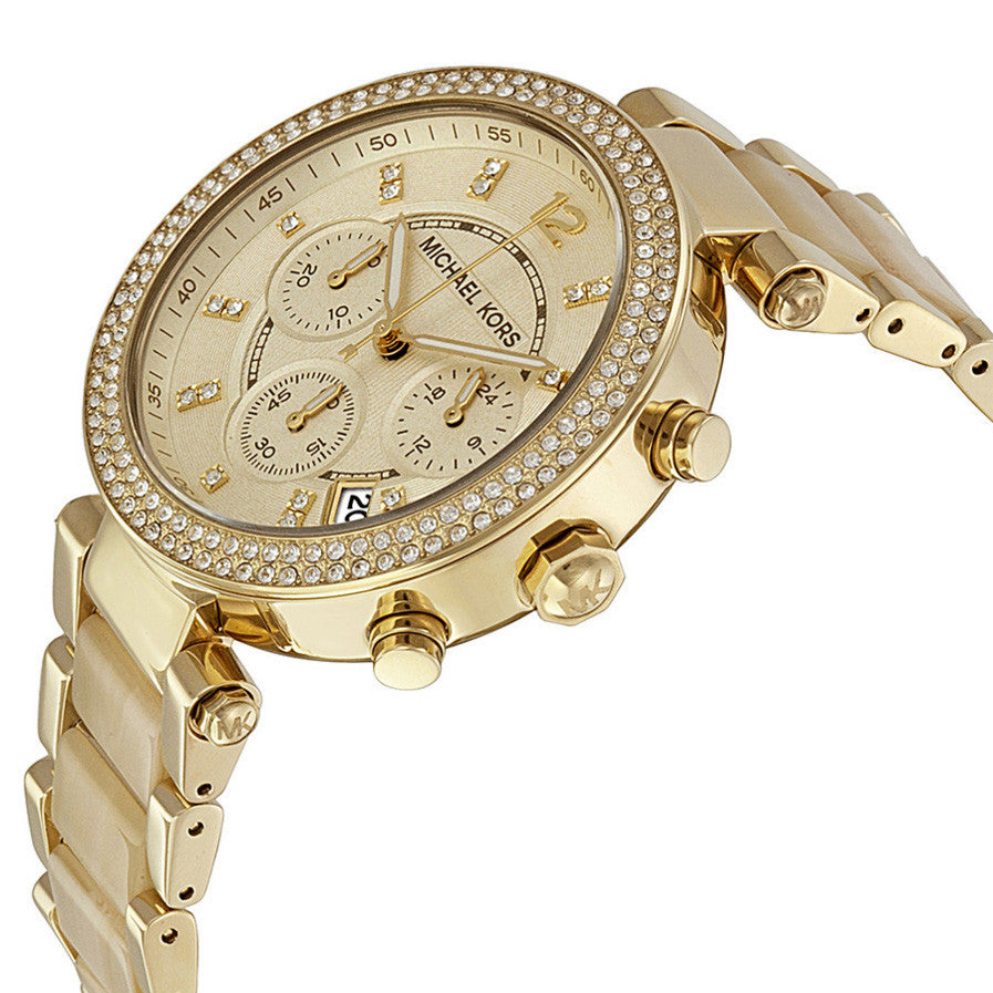 Parker Chronograph Gold Dial Gold-tone Ladies Watch