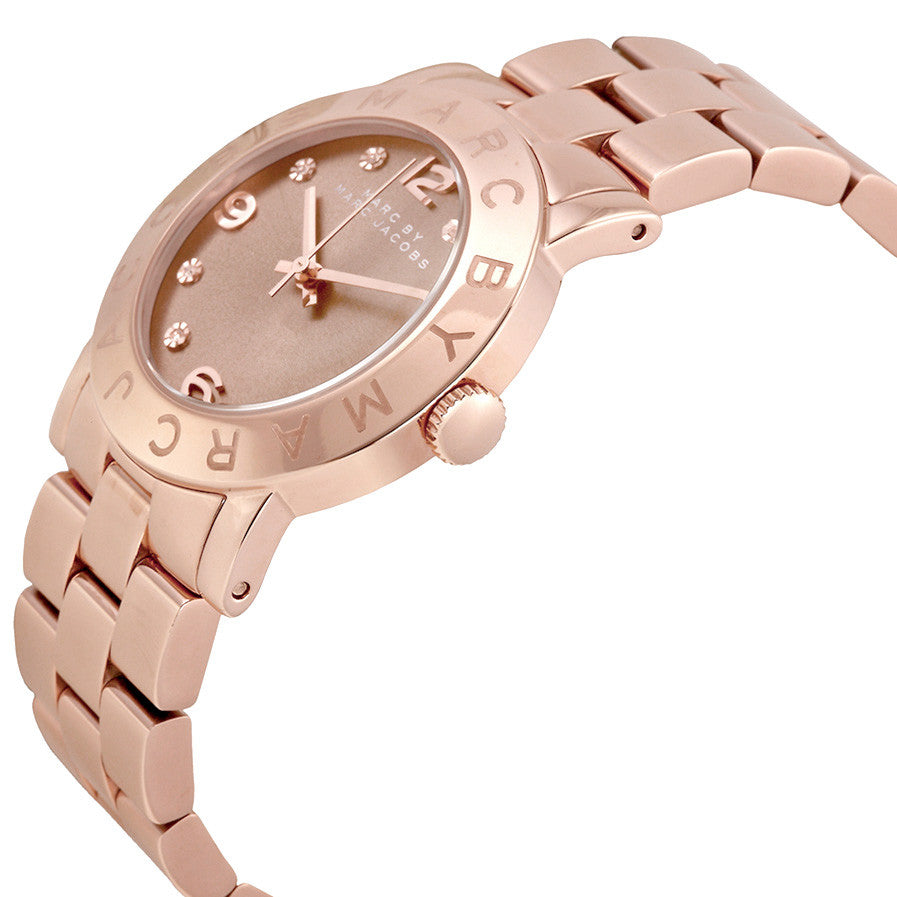 Amy Dexter Wheat Dial Rose Gold-tone Ladies Watch