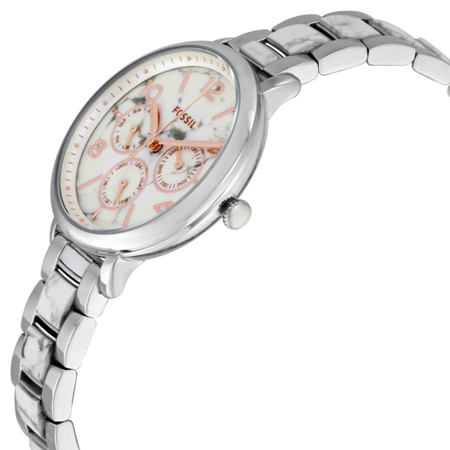 Jacqueline White Dial Ladies Multifunction Watch