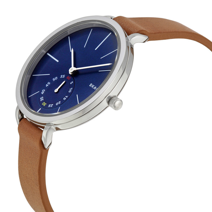 Hagen Blue Dial Tan Leather Ladies Watch