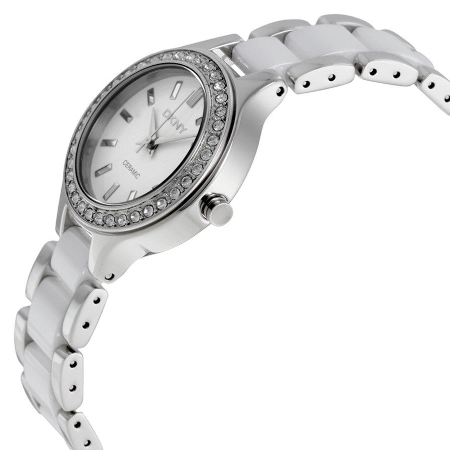 Ceramica White Dial Ladies Watch