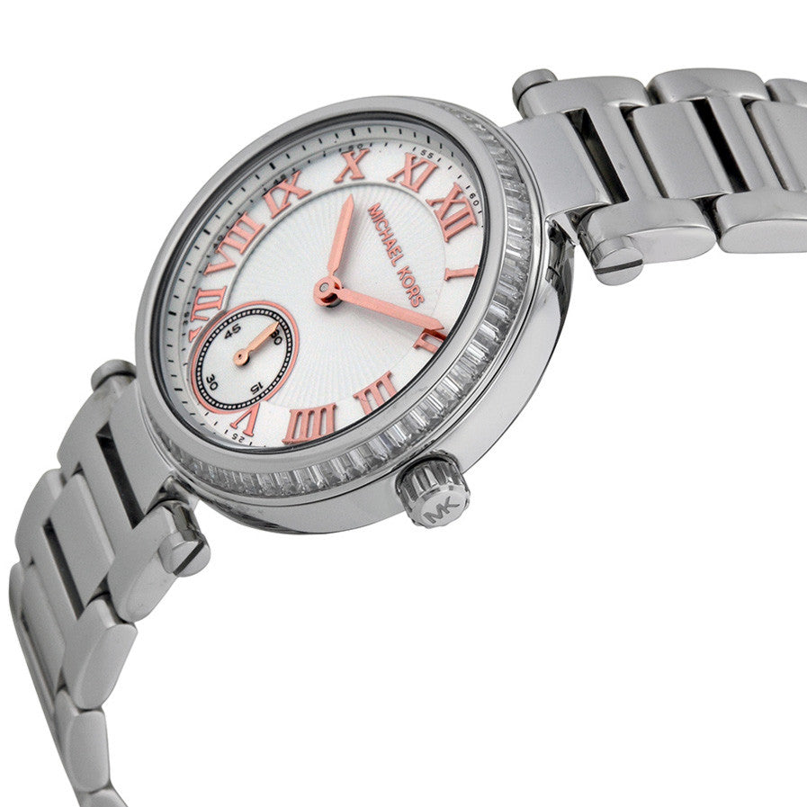 Skylar Silver Dial Stainless Steel Ladies Watch
