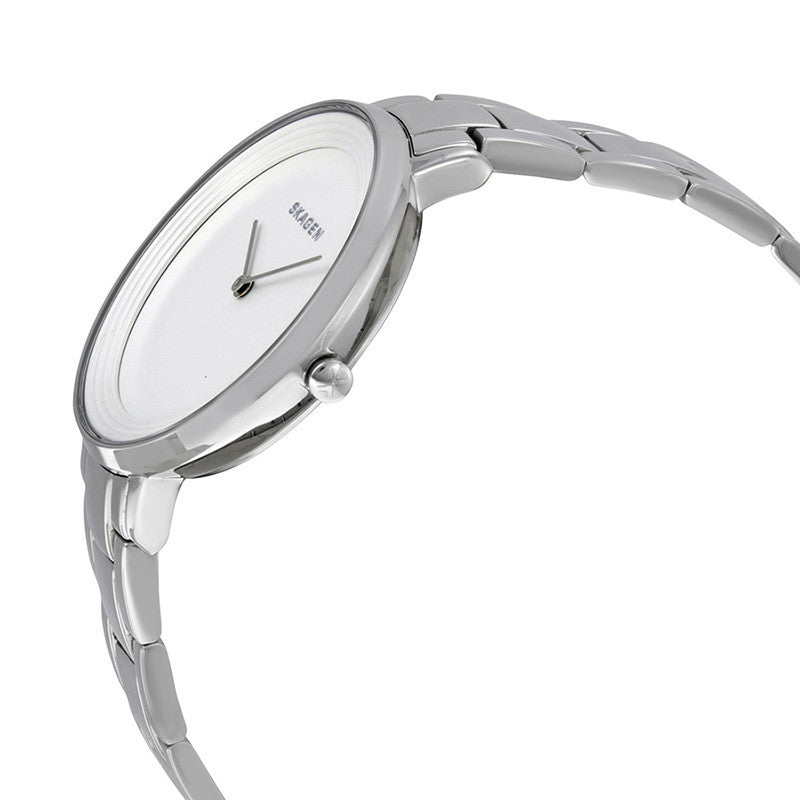 Ditte White Dial Stainless Steel Ladies Watch