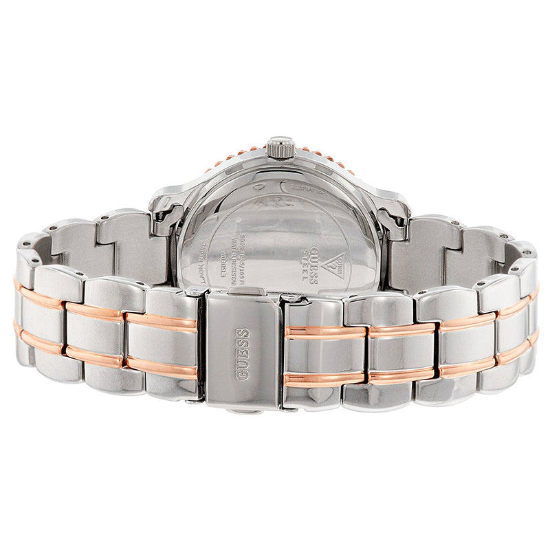 Crystal-paved Two-tone Stainless Steel Ladies Watch