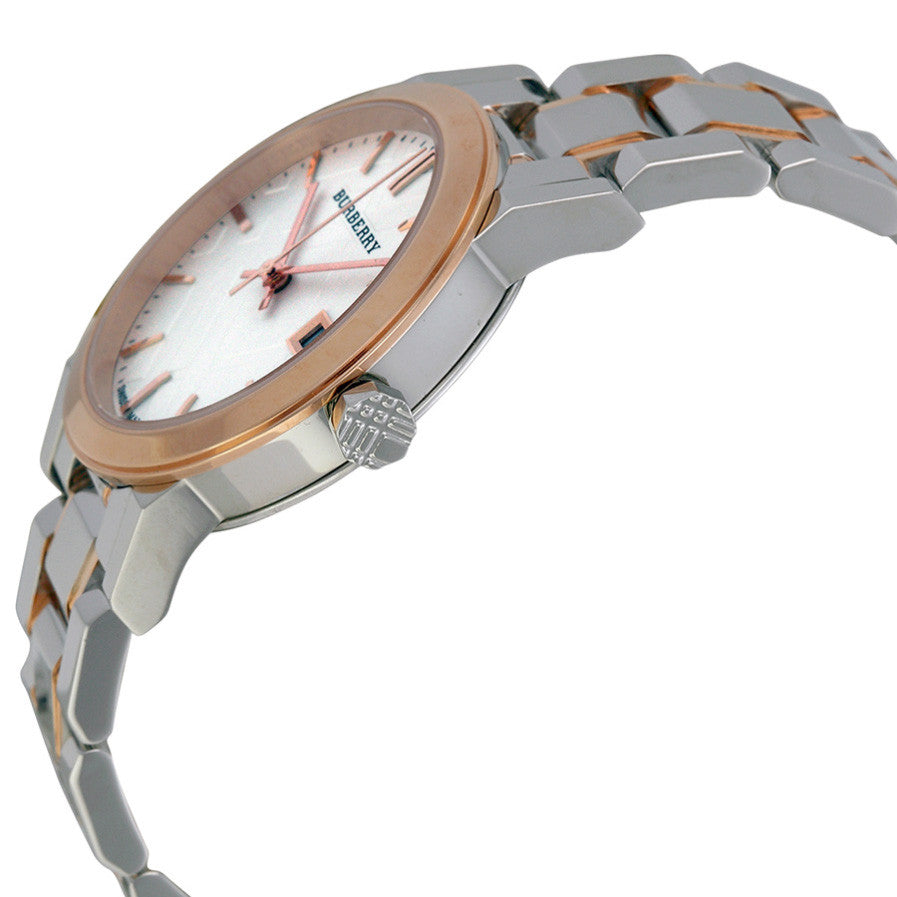 Two Tone Rose Gold Stainless Steel Bracelet Ladies Watch