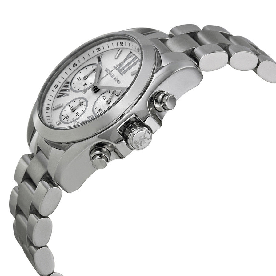 Bradshaw Chronograph Silver Dial Stainless Steel Ladies Watch