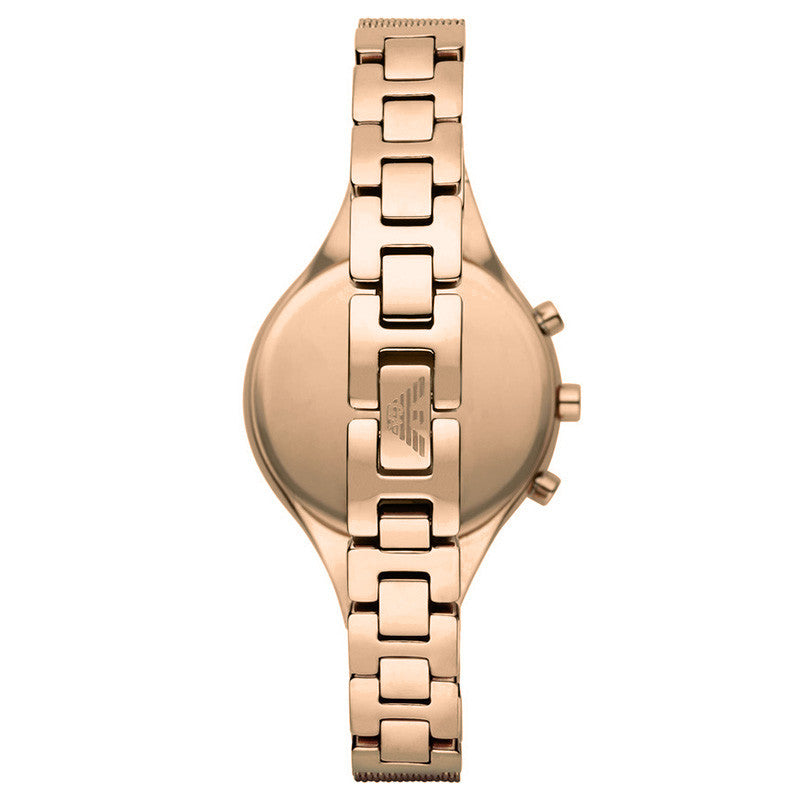 Classic Rose Gold Mesh Bracelet Ladies Watch