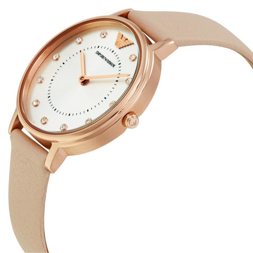 Rose Gold-tone Nude Leather Ladies' Watch