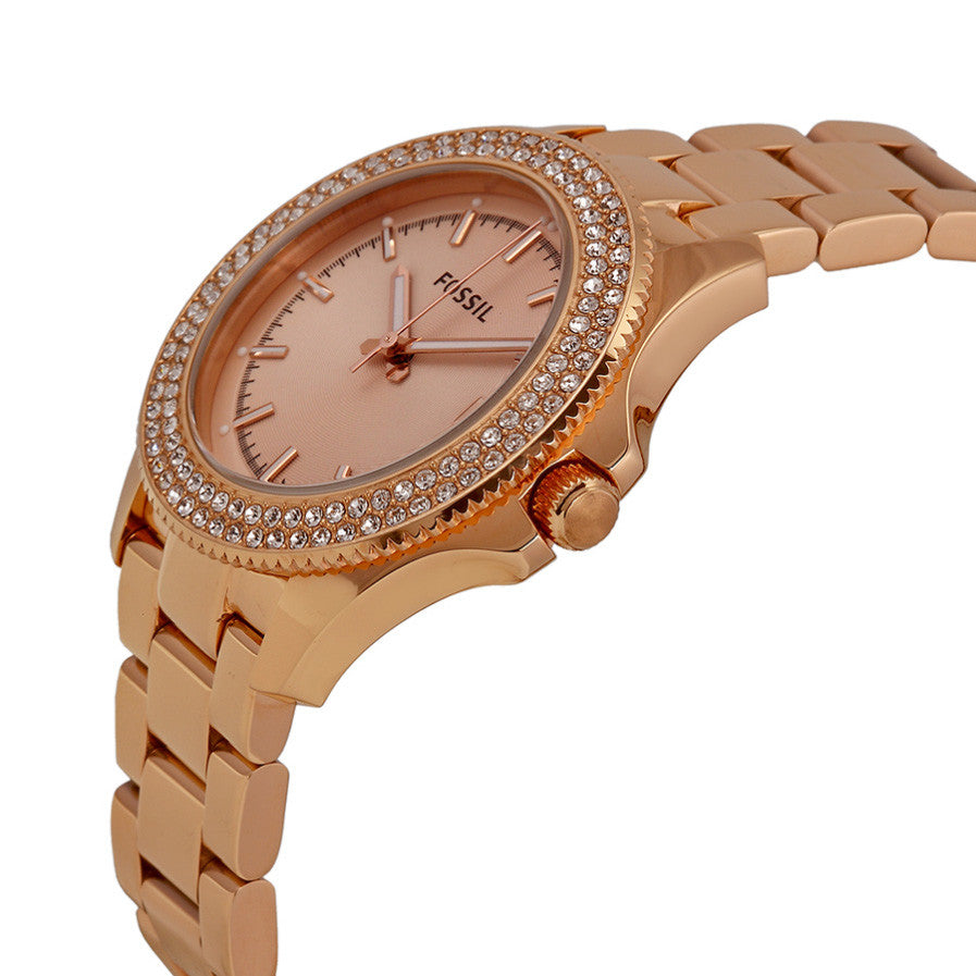 Retro Traveler Rose Dial Rose Gold-tone Ladies' Watch