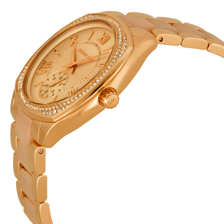 Bryn Rose Dial Rose Gold-tone Ladies Watch