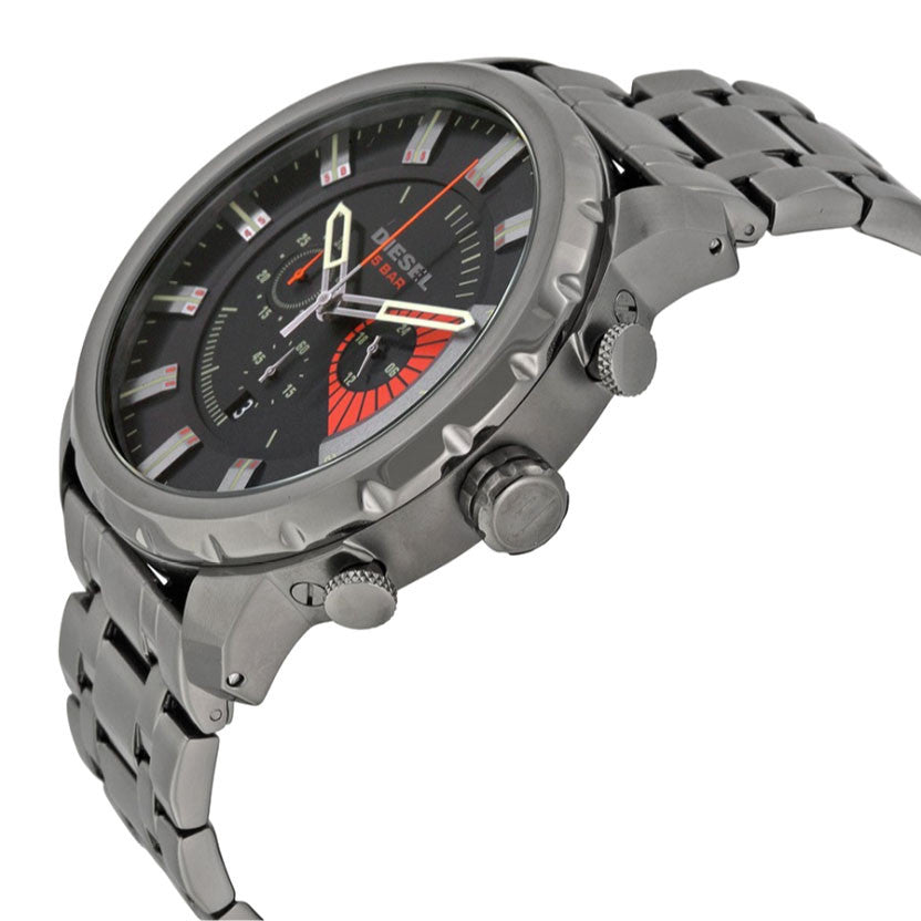 Stronghold Chronograph Grey Dial Grey Ion-plated Men's Watch