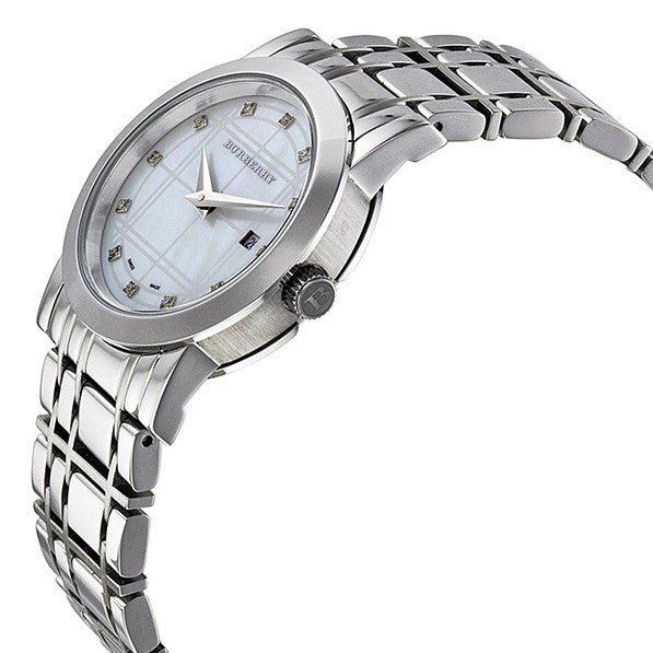 Heritage Diamond Mother of Pearl Dial Stainless Steel Ladies Watch