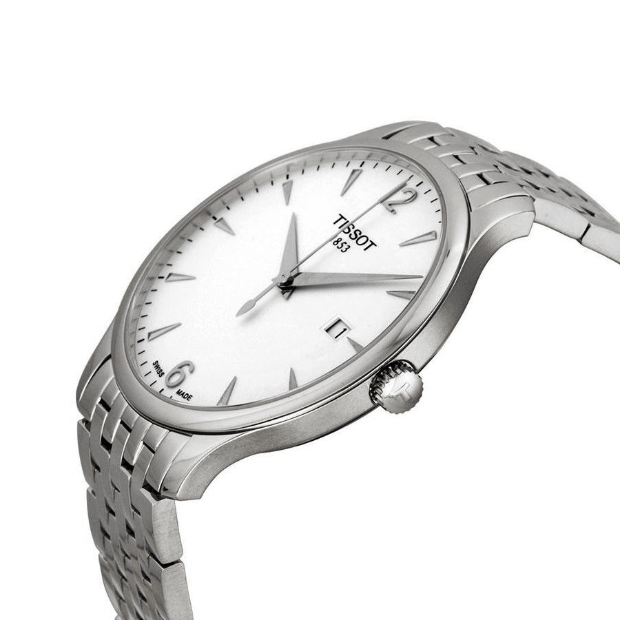 Tradition Silver Dial Stainless Steel Men's Watch