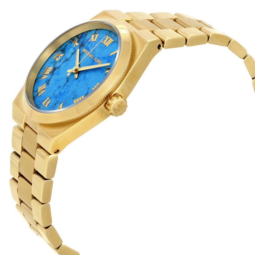 Channing Turquoise Dial Gold-tone Ladies Watch