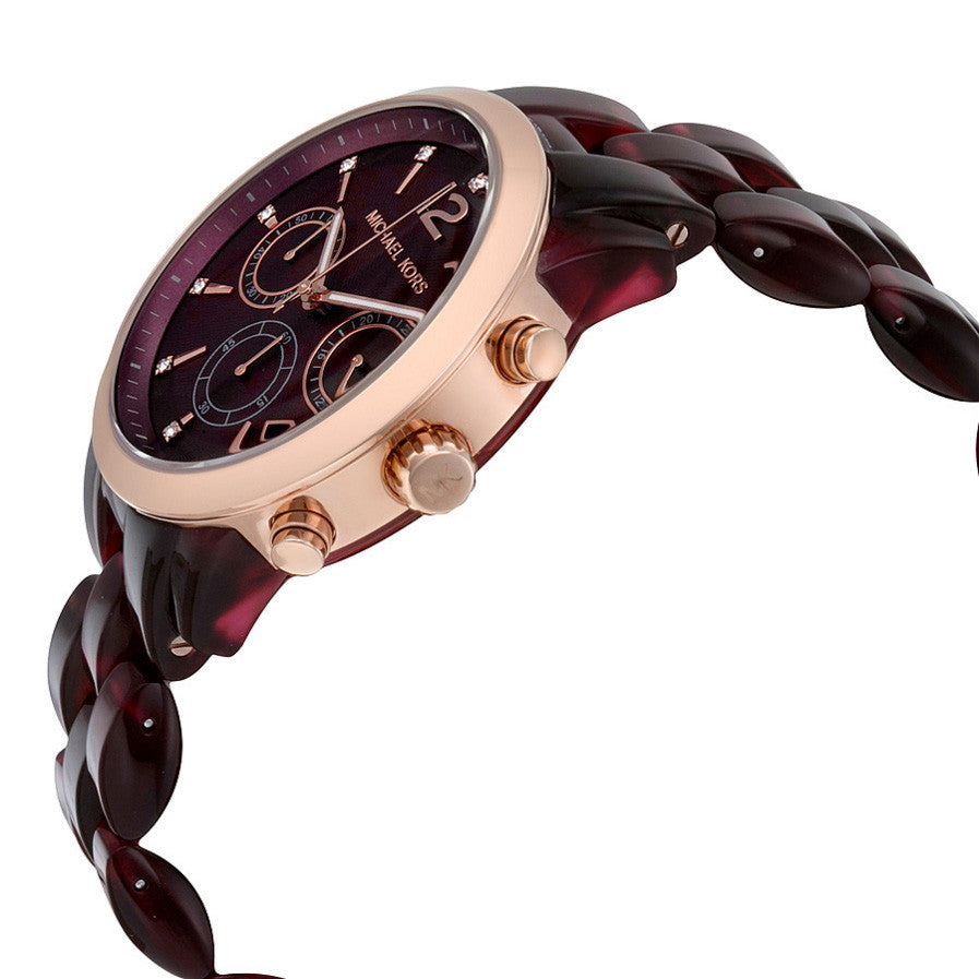 Audrina Burgundy Dial Chronograph Ladies Watch
