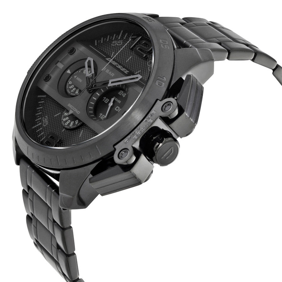 Ironside Chronograph Black Dial Black Ion-plated Men's Watch