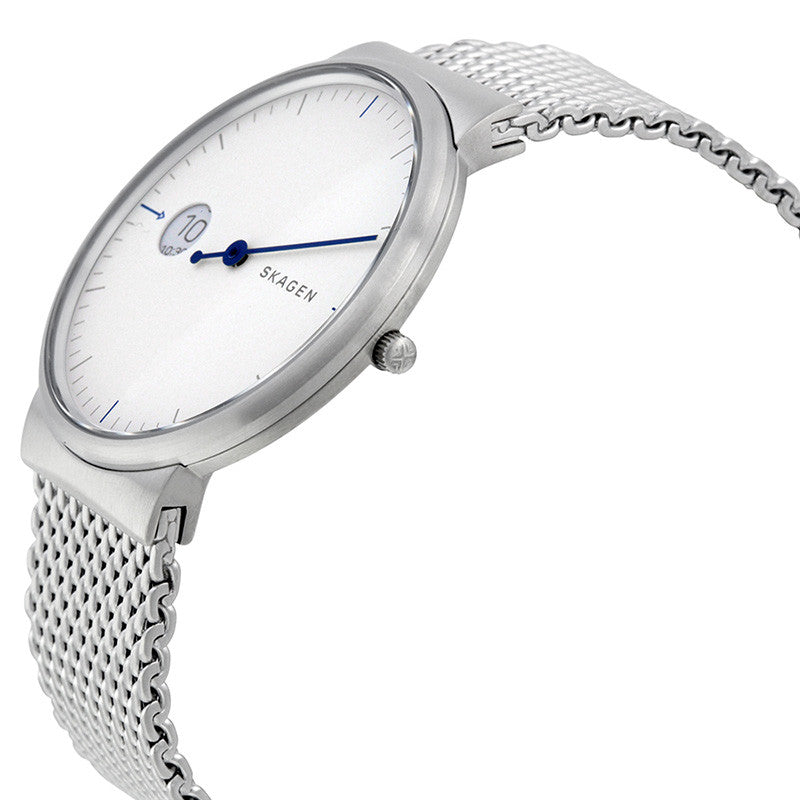 Ancher Silver Dial Men's Stainless Steel Watch