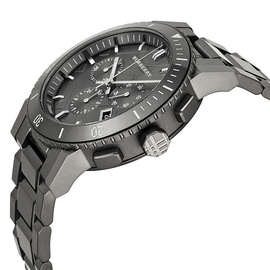 Chronograph Gunmetal Dial Grey Ion-plated Stainless Steel Men's Watch