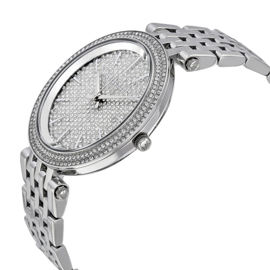 Darci Crystal Pave Dial Stainless Steel Ladies Watch