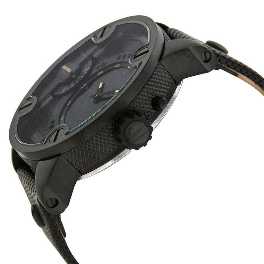 Little Daddy Black Dial Leather Strap GMT RDR Campaign Radar Men's Watch