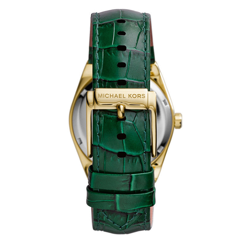 Channing Green Dial Green Leather Unisex Watch