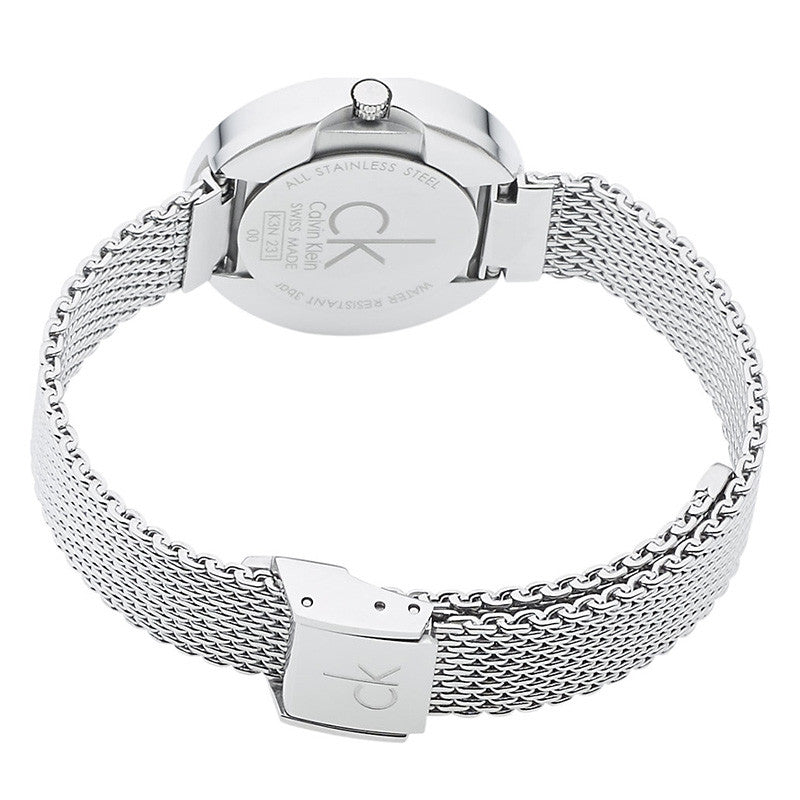 Firm Silver Dial Stainless Steel Ladies' Watch
