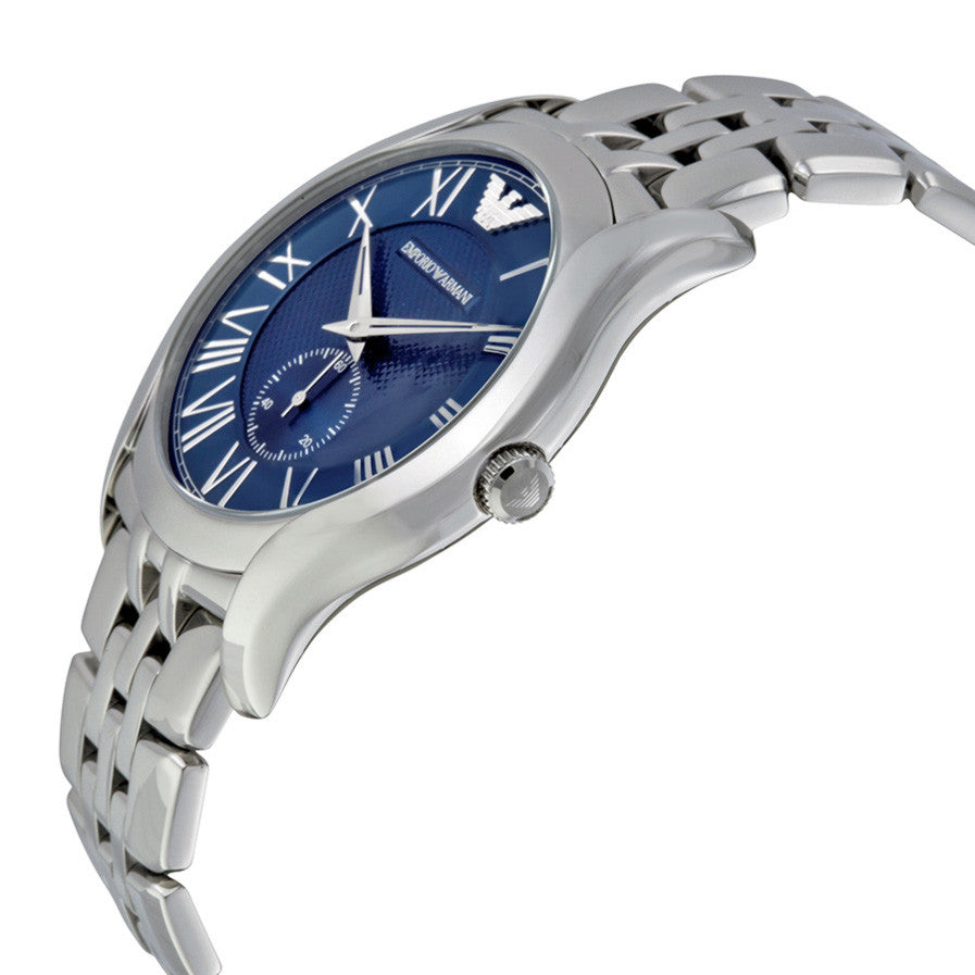 Classic Blue Dial Stainless Steel Men's Watch