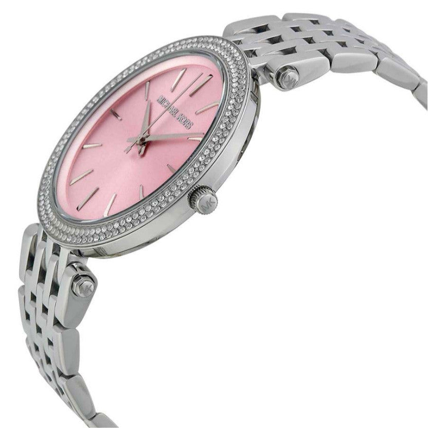 Darci Pink Dial Stainless Steel Ladies Watch