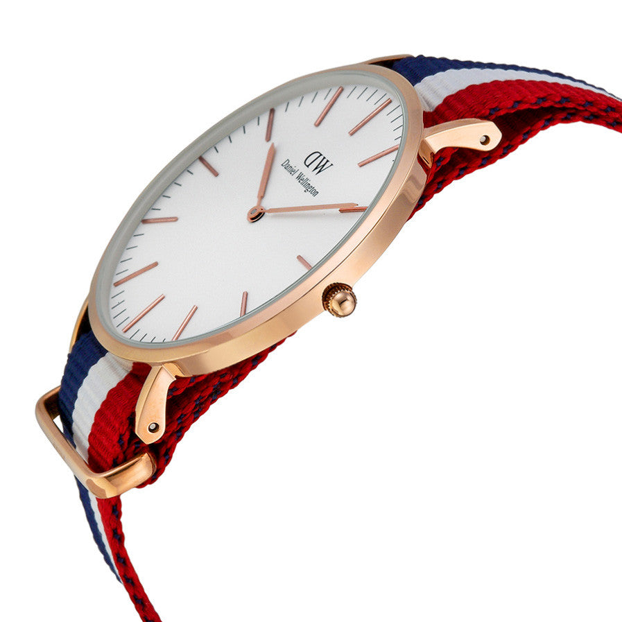 2f9a4e8d68254 Daniel Wellington 0103DW Classic Cambridge Rose Gold 40mm Blue White ...