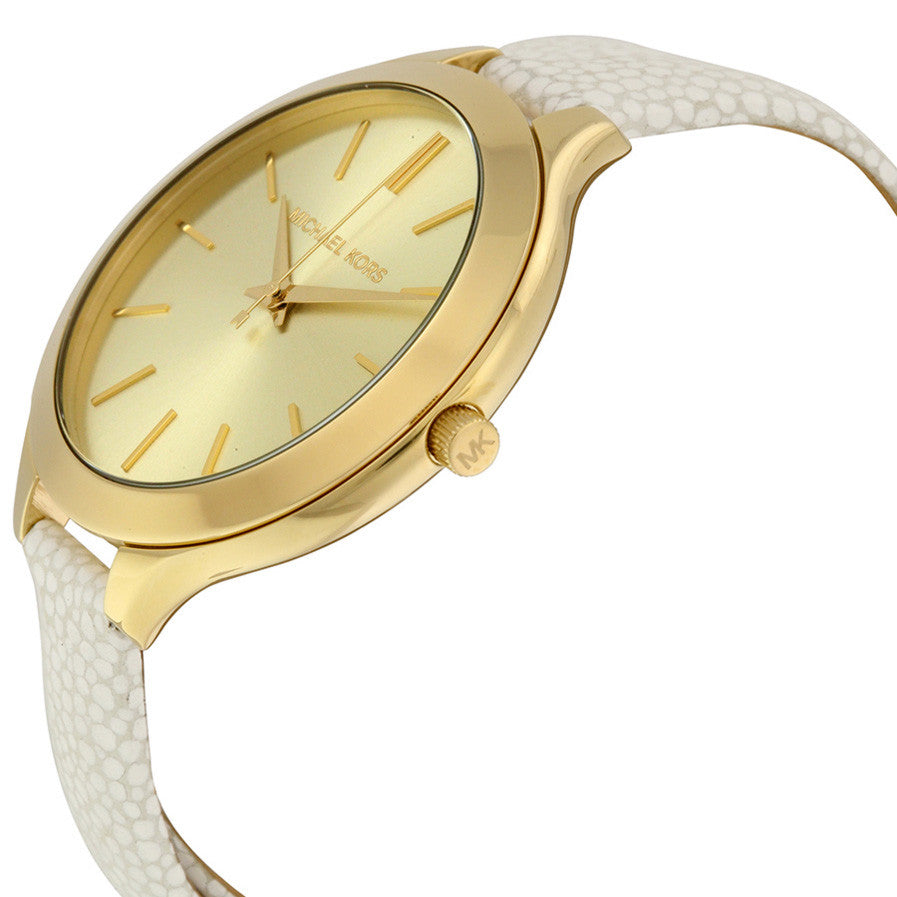 Slim Runway Gold Tone Dial Ladies Watch