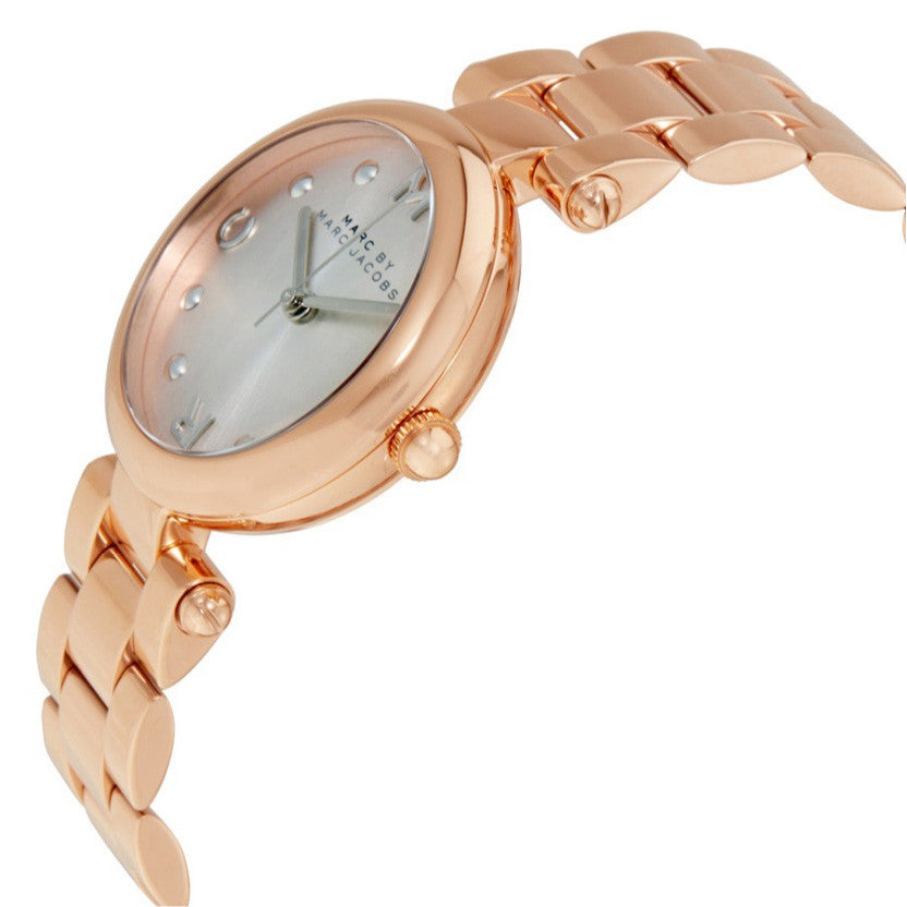 Dotty Silver Dial Rose Gold-tone Stainless Steel Ladies Watch