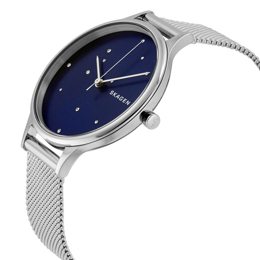 Anita Blue Crystal Constellation Dial Stainless Steel Ladies Watch