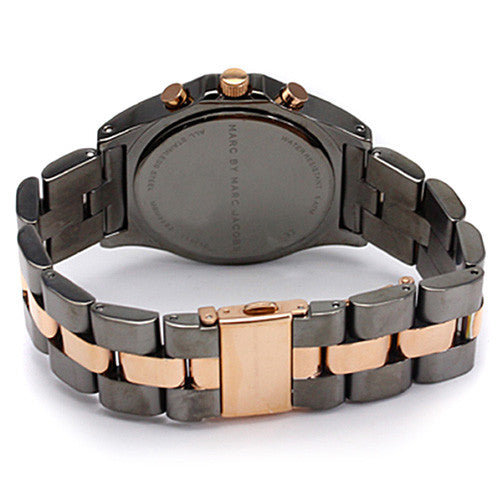 Amy Black Dial Two-tone Bracelet Ladies Watch