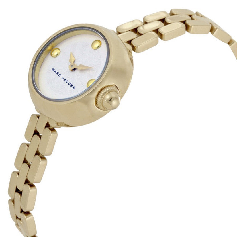 Courtney Silver Dial Ladies Gold Tone Watch