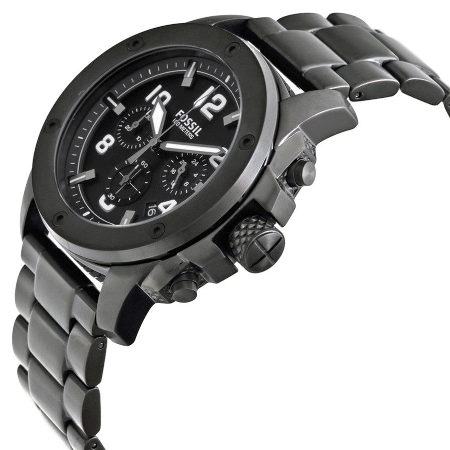 Machine Chronograph Black Dial Black Ion-plated Men's Watch