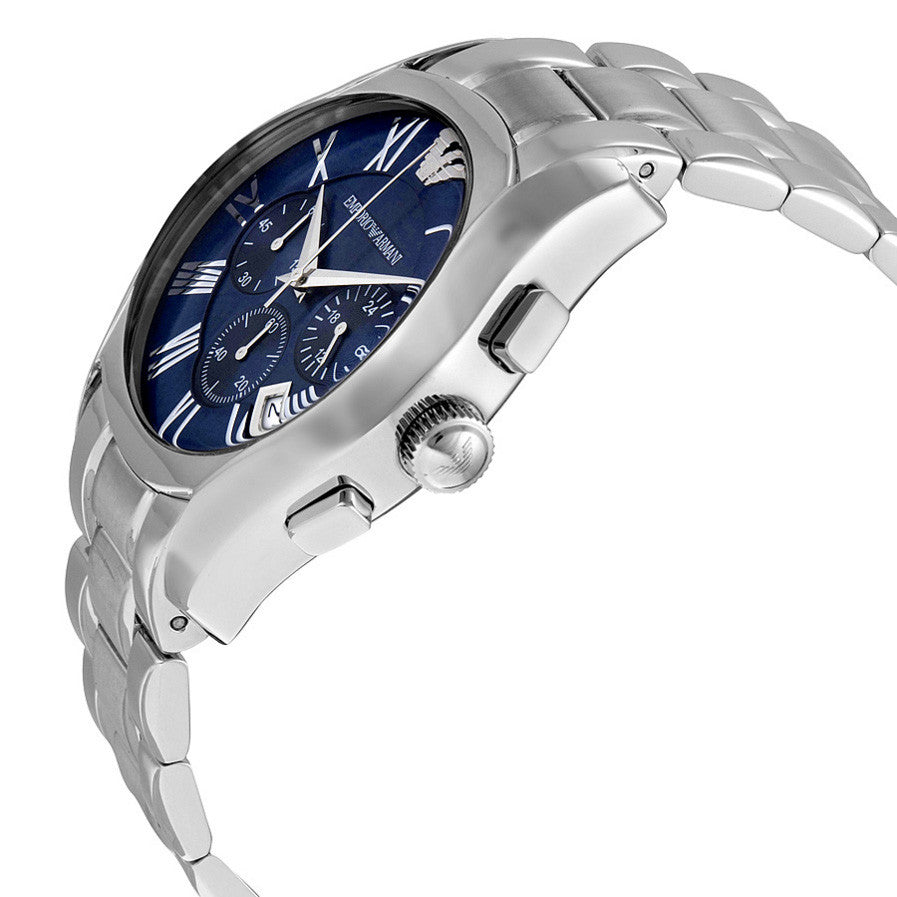 Classic Chronograph Blue Dial Stainless Steel Bracelet Men's Watch