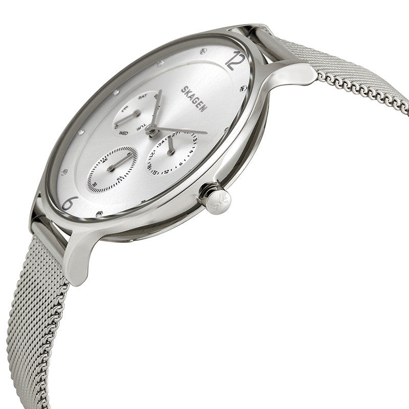 Anita Multi-Function Silver Dial Stainless Steel Ladies Watch