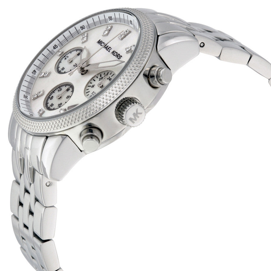 Chronograph Mother of Pearl Dial Stainless Steel Bracelet Watch
