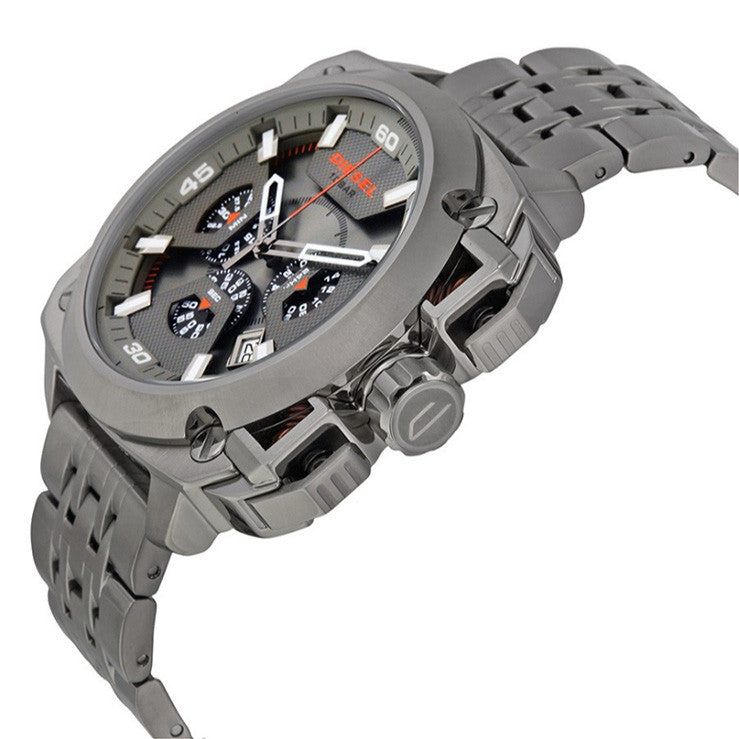 BAMF Chronograph Grey Dial Grey Ion-plated Men's Watch