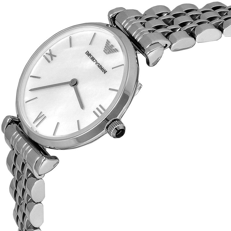 Classic Mother Of Pearl Dial Stainless Steel Ladies Watch