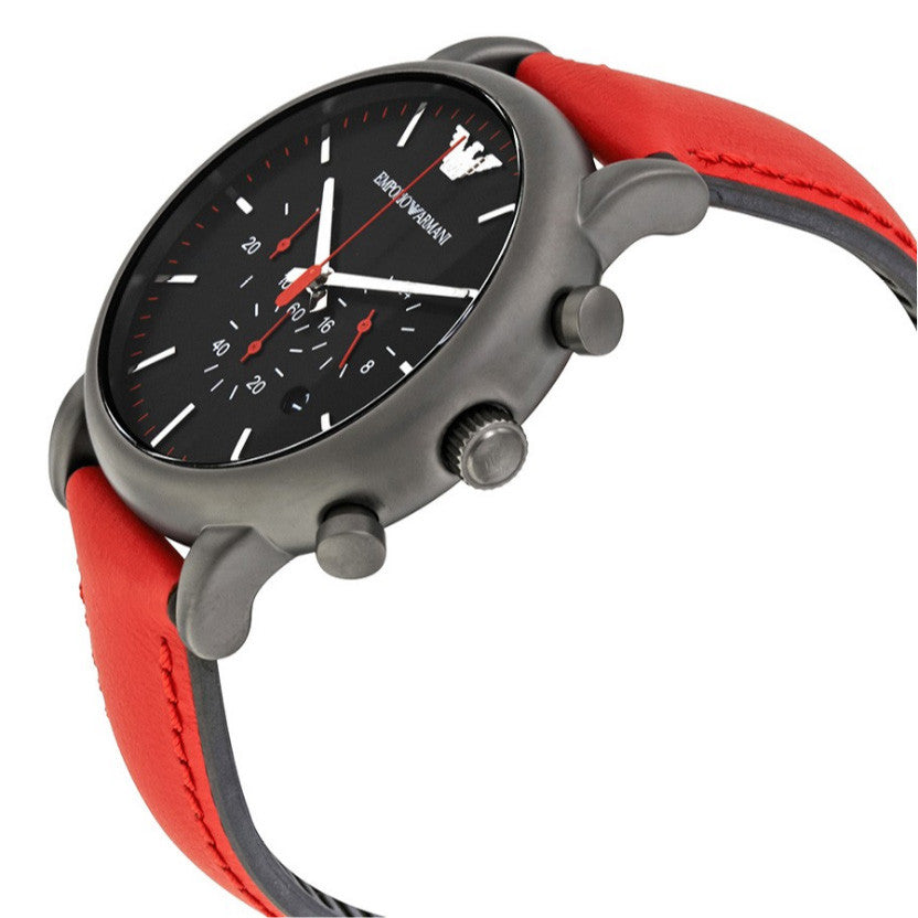 Luigi Chronograph Black Dial Men's Watch