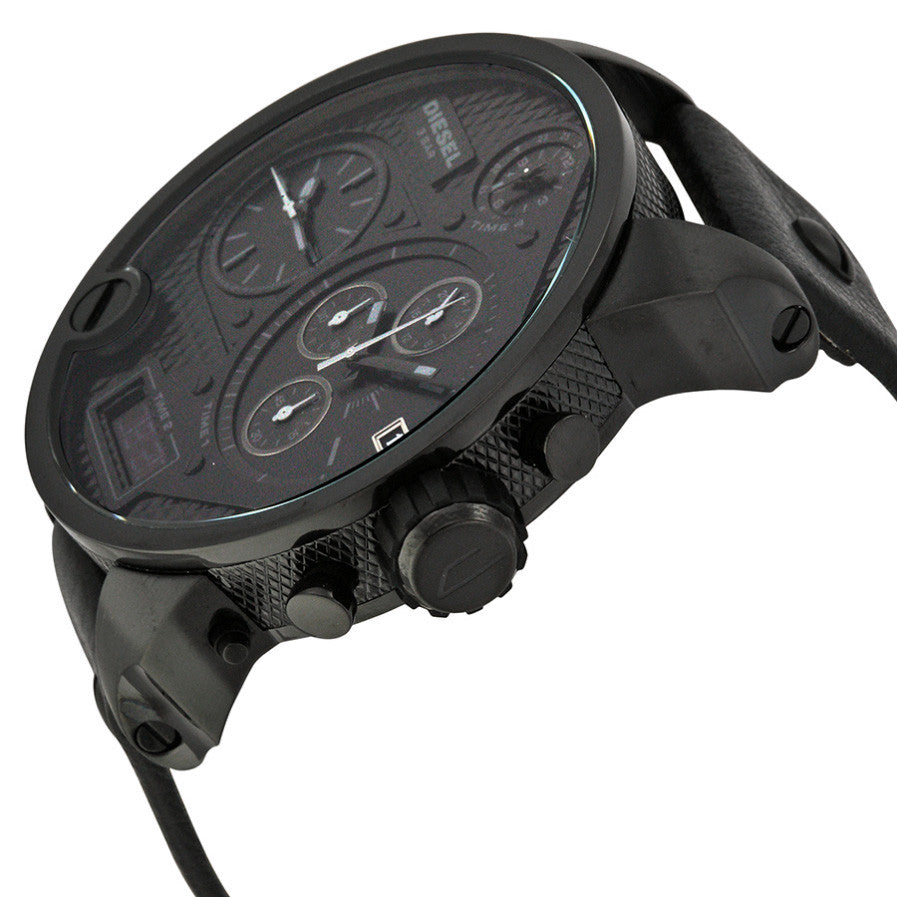 Time Zone Chronograph Black PVD Men's Watch