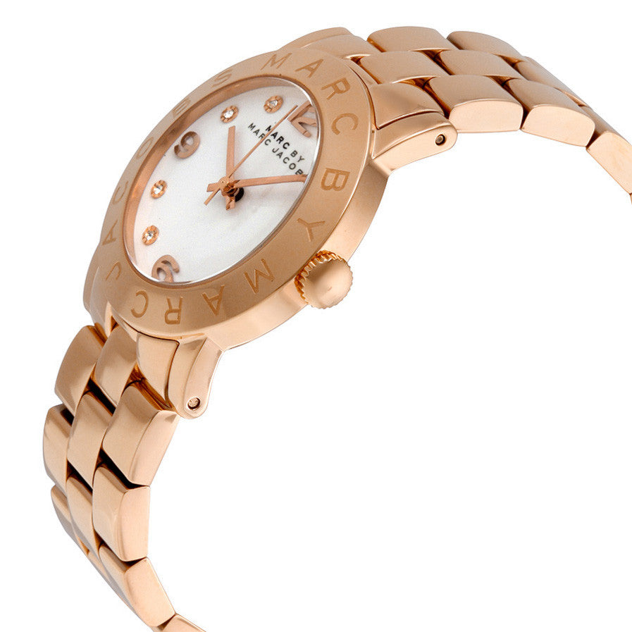 Marc Jacobs White Dial Rose Gold-Tone Stainless Steel Ladies Watch