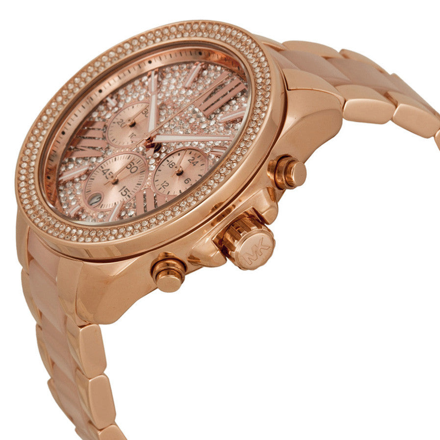 Wren Crystal Pave Dial Chronograph Ladies Watch