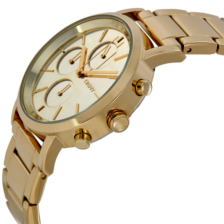 Lexington Chronograph Gold Mirror Dial Gold Tone Stainless Steel Ladies Watch