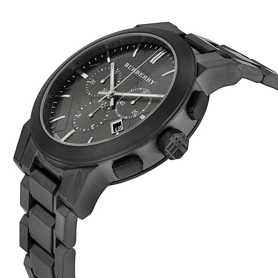 Chronograph Dark Grey Dial Black Ion-plated Men's Watch