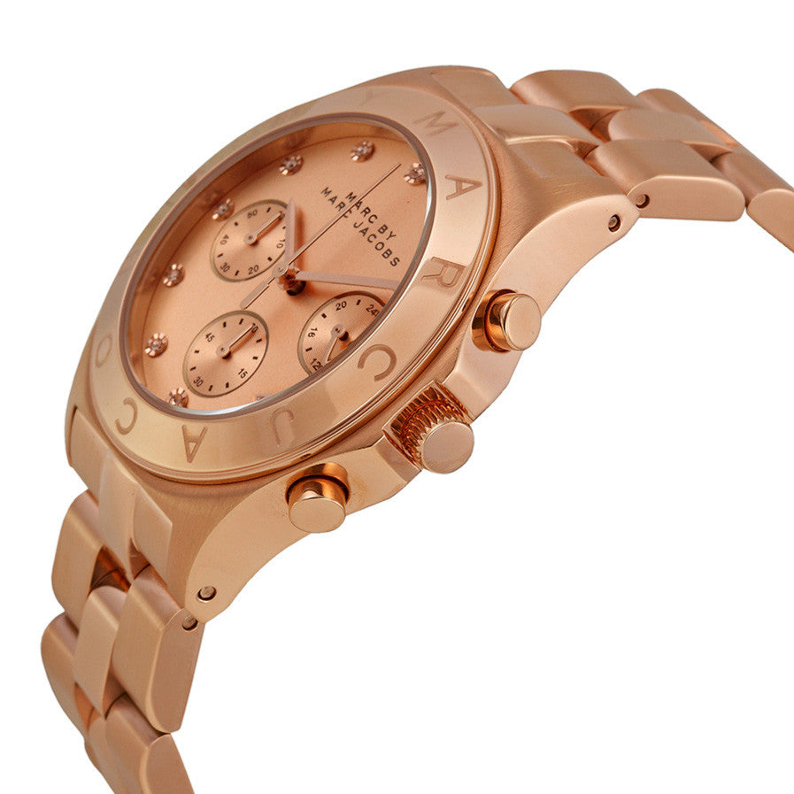 Blade Chronograph Rose Gold-Tone Stainless Steel Ladies Watch