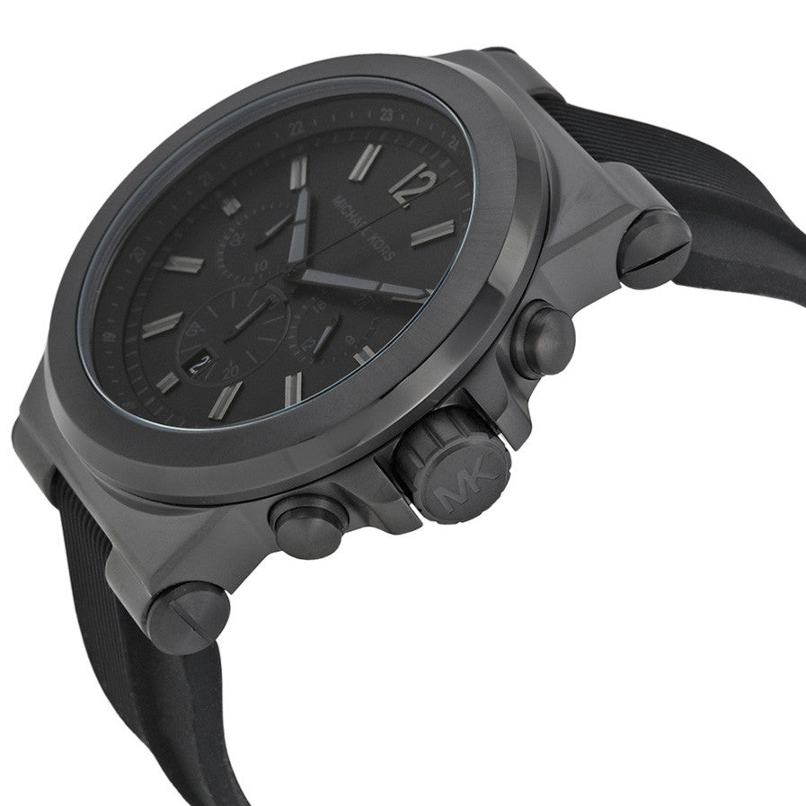 Dylan Black Silicone Strap Men's Watch